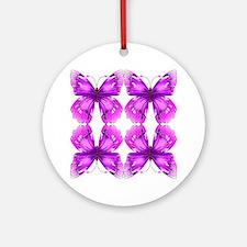 Mirrored Awareness Butterflies Ornament (Round)