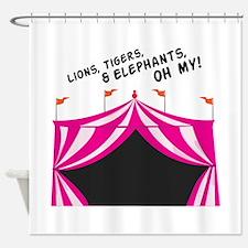 Lions Tigers & Elephants Shower Curtain
