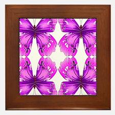 Mirrored Awareness Butterflies Framed Tile