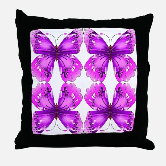 Mirrored Awareness Butterflies Throw Pillow