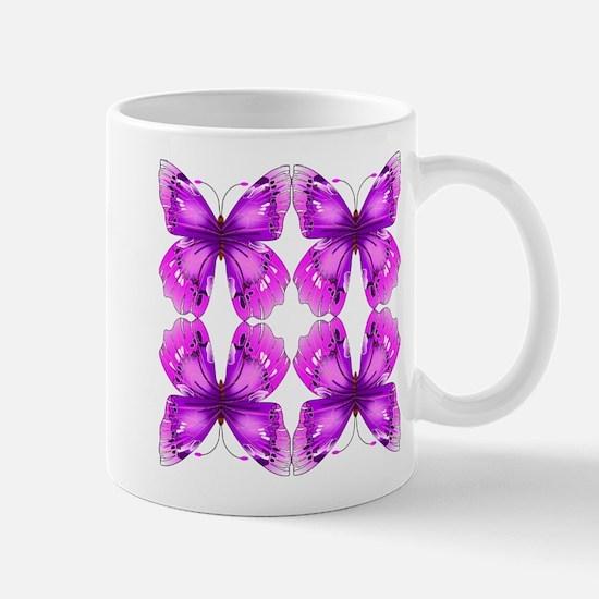 Mirrored Awareness Butterflies Mugs