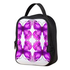 Mirrored Awareness Butterflies Neoprene Lunch Bag