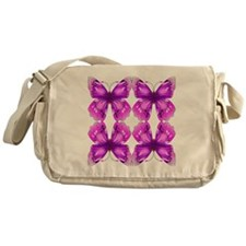 Mirrored Awareness Butterflies Messenger Bag