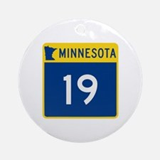 Trunk Highway 19, Minnesota Ornament (Round)
