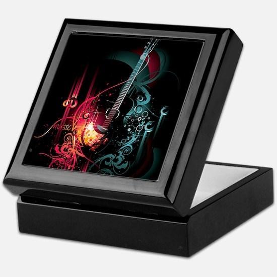 Electric Guitar Keepsake Box