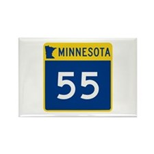 Trunk Highway 55, Minne Rectangle Magnet (10 pack)