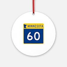Trunk Highway 60, Minnesota Ornament (Round)