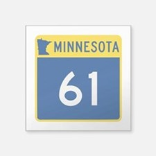 "Trunk Highway 61, Minnesota Square Sticker 3"" x 3"""