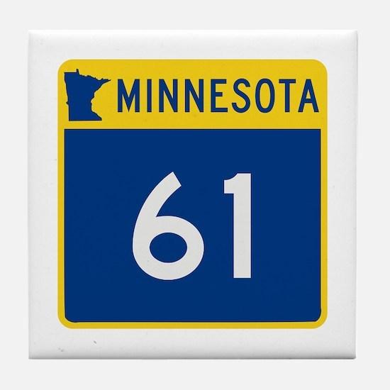 Trunk Highway 61, Minnesota Tile Coaster