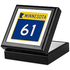 Trunk Highway 61, Minnesota Keepsake Box