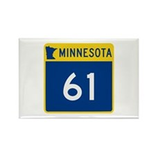Trunk Highway 61, Minne Rectangle Magnet (10 pack)