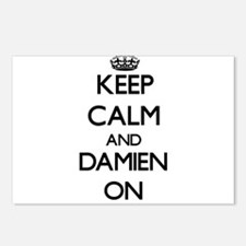 Keep Calm and Damien ON Postcards (Package of 8)