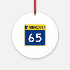 Trunk Highway 65, Minnesota Ornament (Round)