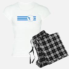 Hammer Throw Stripes (Blue) Pajamas