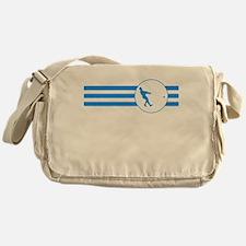 Hammer Throw Stripes (Blue) Messenger Bag