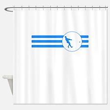 Hammer Throw Stripes (Blue) Shower Curtain