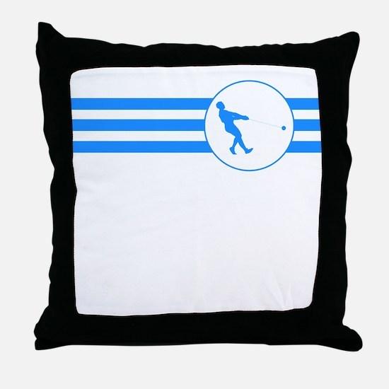 Hammer Throw Stripes (Blue) Throw Pillow
