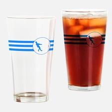 Hammer Throw Stripes (Blue) Drinking Glass