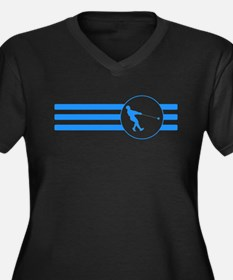 Hammer Throw Stripes (Blue) Plus Size T-Shirt