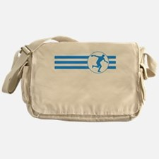 Discus Throw Stripes (Blue) Messenger Bag