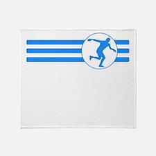 Discus Throw Stripes (Blue) Throw Blanket