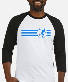 Discus Throw Stripes (Blue) Baseball Jersey
