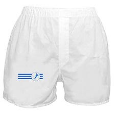 Speed Skater Stripes (Blue) Boxer Shorts