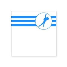 Speed Skater Stripes (Blue) Sticker