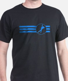 Speed Skater Stripes (Blue) T-Shirt