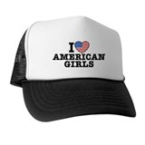 I love white girls Hats & Caps