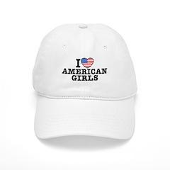 I Love American Girls Baseball Cap