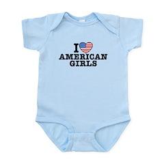 I Love American Girls Infant Bodysuit