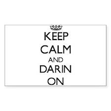 Keep Calm and Darin ON Decal