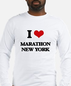 I love Marathon New York Long Sleeve T-Shirt