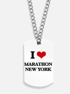 I love Marathon New York Dog Tags