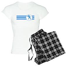 Racquetball Player Stripes (Blue) Pajamas
