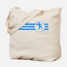 Racquetball Player Stripes (Blue) Tote Bag