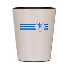 Racquetball Player Stripes (Blue) Shot Glass