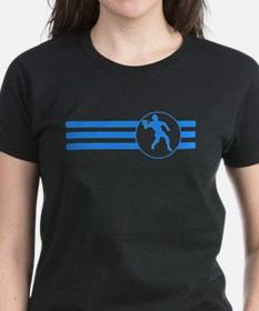 Racquetball Player Stripes (Blue) T-Shirt