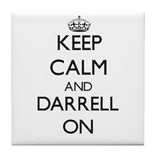 Keep Calm and Darrell ON Tile Coaster