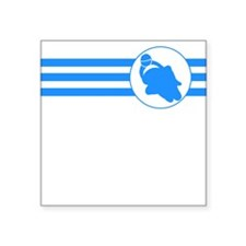 Motorcycle Racing Stripes (Blue) Sticker