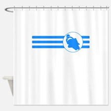 Motorcycle Racing Stripes (Blue) Shower Curtain