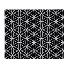 Flower Of Life 2way Big Ptn Bw Throw Blanket