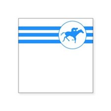 Horse Racing Stripes (Blue) Sticker