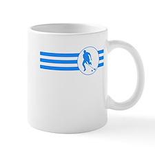 Field Hockey Stripes (Blue) Mugs