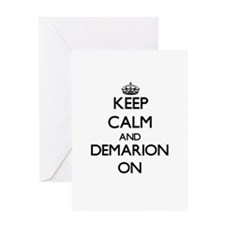 Keep Calm and Demarion ON Greeting Cards
