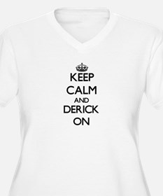 Keep Calm and Derick ON Plus Size T-Shirt