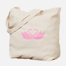 Pink swans heart Tote Bag