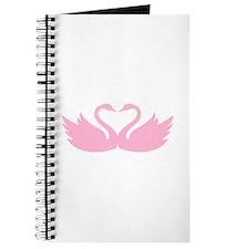 Pink swans heart Journal