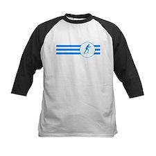 Biathlete Stripes (Blue) Baseball Jersey